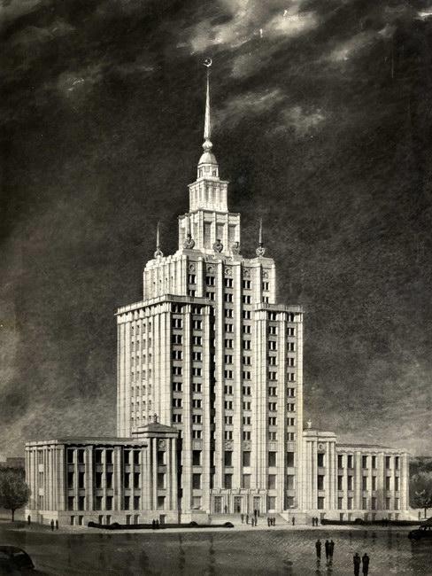 Kolhoznieku nams. Arhitekta Osvalda Tīlmaņa zīmējums.